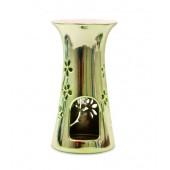 Арома Лампа H&H за топене на восък - Зелен Металик